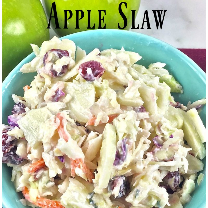Light Cranberry Apple Slaw