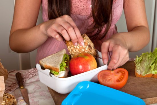 healthy habits and bring lunch to work